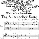 Waltz of the Snowflakes the Nutcracker Suite Beginner Piano Sheet Music