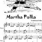 Martha Polka Beginner Piano Sheet Music