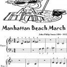 Manhattan Beach March Beginner Piano Sheet Music