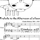 Prelude to the Afternoon of a Faun Beginner Piano Sheet Music