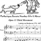 Pathetique Sonata Number 8 in C Minor Opus 13 3rd Mvt Beginner Piano Sheet Music