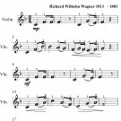 Bridal Chorus Easy Violin Sheet Music