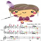 Golliwog's Cakewalk Easy Piano Sheet Music with Colored Notes