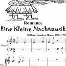 Romance Eine Kleine Nachtmusik Beginner Piano Sheet Music