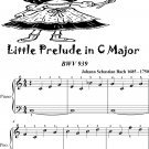 Little Prelude in C Major BWV 939 Easiest Piano Sheet Music