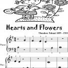 Hearts and Flowers Beginner Piano Sheet Music
