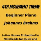 Symphony Number 1 In C Minor 4th Mvt Beginner Piano Sheet Music
