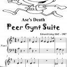 Ase's Death Peer Gynt Suite Beginner Piano Sheet Music