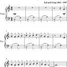 Arabian Dance the Peer Gynt Suite Easiest Piano Sheet Music
