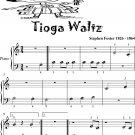 Tioga Waltz Beginner Piano Sheet Music