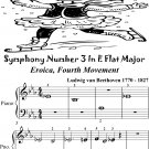 Symphony Number 1 In E Flat Major Eroica 4th Mvt Beginner Piano Sheet Music