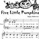 Five Little Pumpkins Beginner Piano Sheet Music