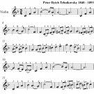 Waltz of the Flowers Nutcracker Suite Easy Violin Sheet Music