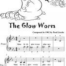 The Glow Worm Beginner Piano Sheet Music