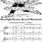 Moonlight Sonata First Movement Easy Piano Sheet Music Tadpole Edition