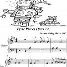 Albumblatt Lyric Pieces Opus 12 Beginner Piano Sheet Music