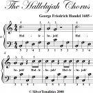 Hallelujah Chorus Easiest Piano Sheet Music