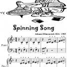 Spinning Song Beginner Piano Sheet Music
