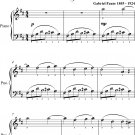Berceuse the Dolly Suite Easiest Piano Sheet Music