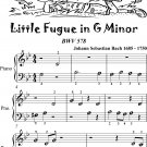 Little Fugue in G Minor BWV 578 Beginner Piano Sheet Music