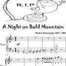 A Night On Bald Mountain Easy Piano Sheet Music