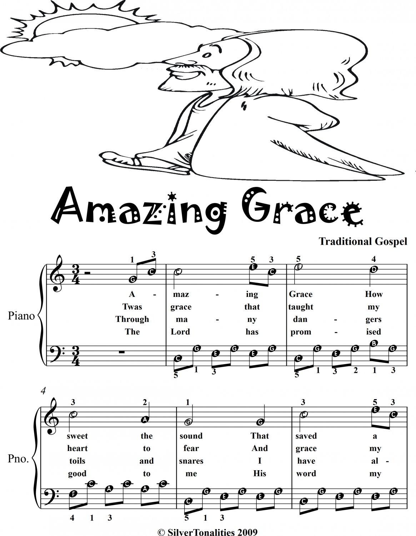 Amazing Grace Easy Piano Sheet Music 2nd Edition