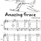 Amazing Grace Easy Piano Sheet Music Tadpole Edition