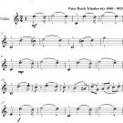 Waltz from Swan Lake Easy Violin Sheet Music