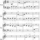 Hungarian Dance Number 4 Beginner Piano Sheet Music