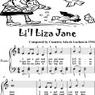 Li'l Liza Jane Easy Piano Sheet Music