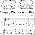 Froggy Went a Courting Beginner Piano Sheet Music