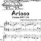 Arioso Cantata BWV 156 Beginner Piano Sheet Music