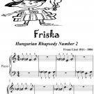 Friska Hungarian Rhapsody Number 2 Beginner Piano Sheet Music