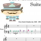 March the Nutcracker Suite Beginner Piano Sheet Music with Colored Notes