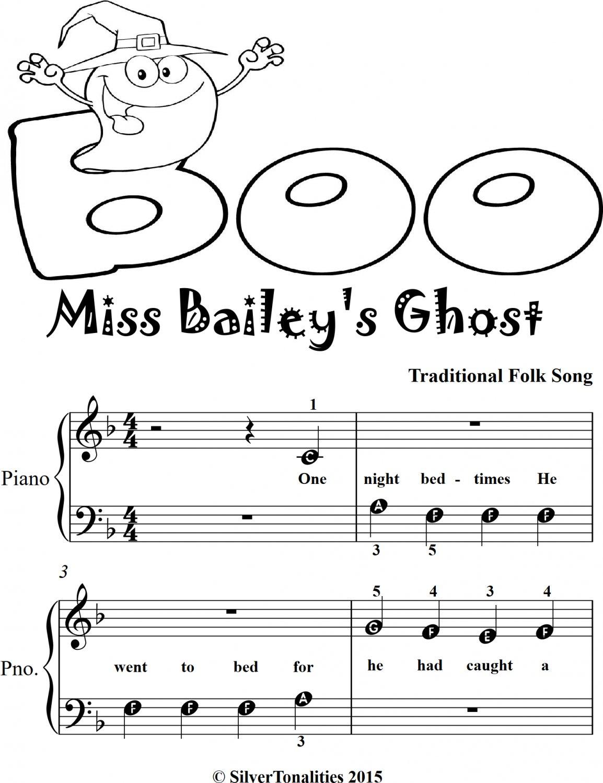 Miss Baileys Ghost Beginner Piano Sheet Music 2nd Edition