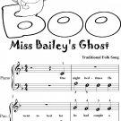 Miss Baileys Ghost Beginner Piano Sheet Music Tadpole Edition