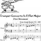 Trumpet Concerto In E Flat Major 1st Mvt Beginner Piano Sheet Music