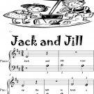 Jack and Jill Beginner Piano Sheet Music