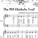 The  Old Chisholm Trail Easy Piano Sheet Music