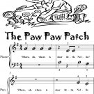The Paw Paw Patch Beginner Piano Sheet Music