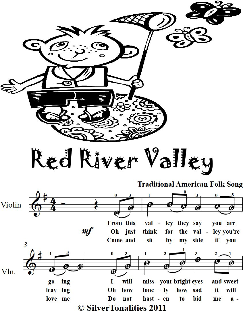 Red River Valley Easy Violin Sheet Music