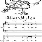 Skip to My Lou Beginner Piano Sheet Music