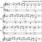Alleluia Exultate Jubilate K165 Easy Piano Sheet Music