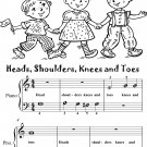 Heads Shoulders Knees and Toes Beginner Piano Sheet Music