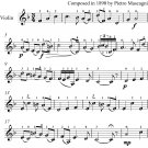 Cavalleria Rusticana Easy Violin Sheet Music