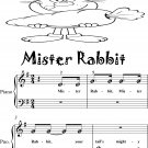 Mister Rabbit Beginner Piano Sheet Music