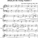 Morning Prayer Album for the Young Number 1 Easy Piano Sheet Music