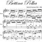 Bettina Polka Easy Elementary Piano Sheet Music