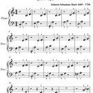 Little Prelude in C Major BWV 924 Beginner Piano Sheet Music