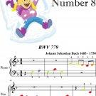 Invention Number 8 BWV 779 Beginner Piano Sheet Music